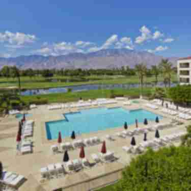 Doubletree Pool and Mountain View In Cathedral City, CA