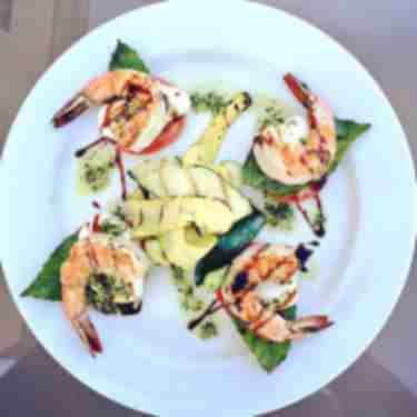 Shrimp Caprese at Bonta