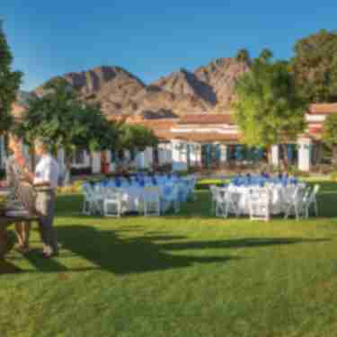 Event set up on the lawn La Quinta Resort