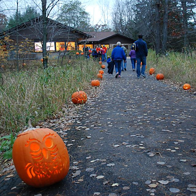 Fall Fun events in the Stevens Point Area, like the Schmeeckle Reserve Candlelight Hike