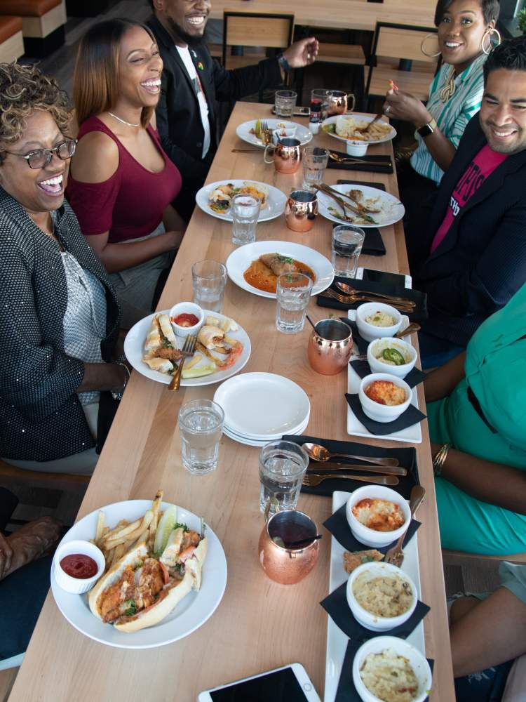 Forty Acres Soul Kitchen full table dining