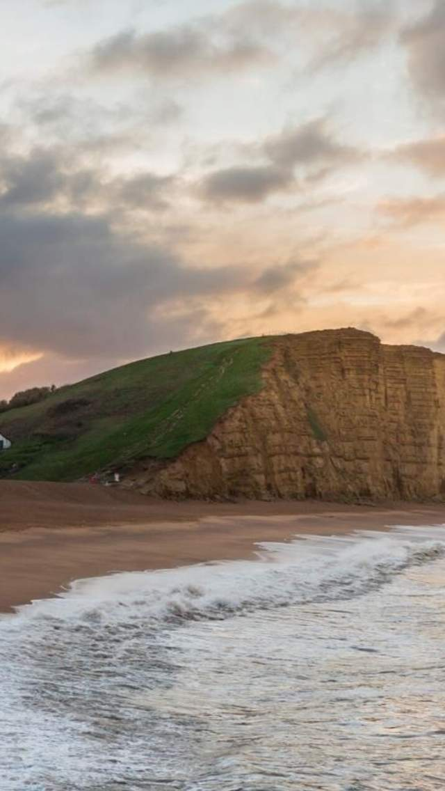 West Bay East Beach and cliffs