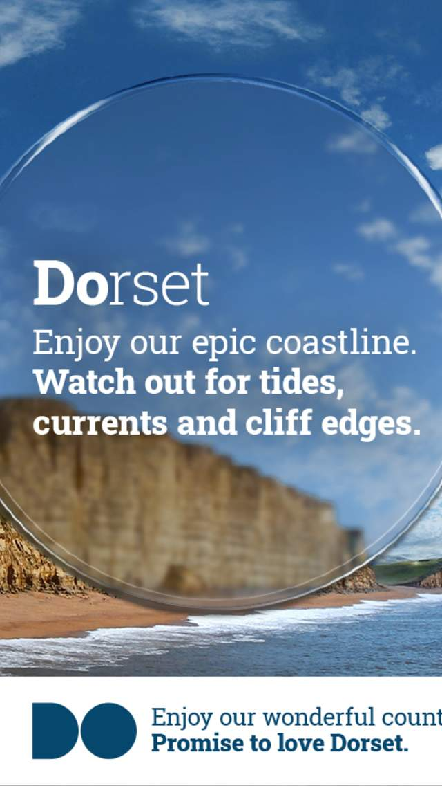 Promise To Love Dorset - enjoy our epic coastline but watch out for tides, currents and cliff edges