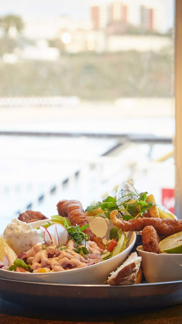 Seafood platter at Key West Bar and Grill on Bournemouth Pier