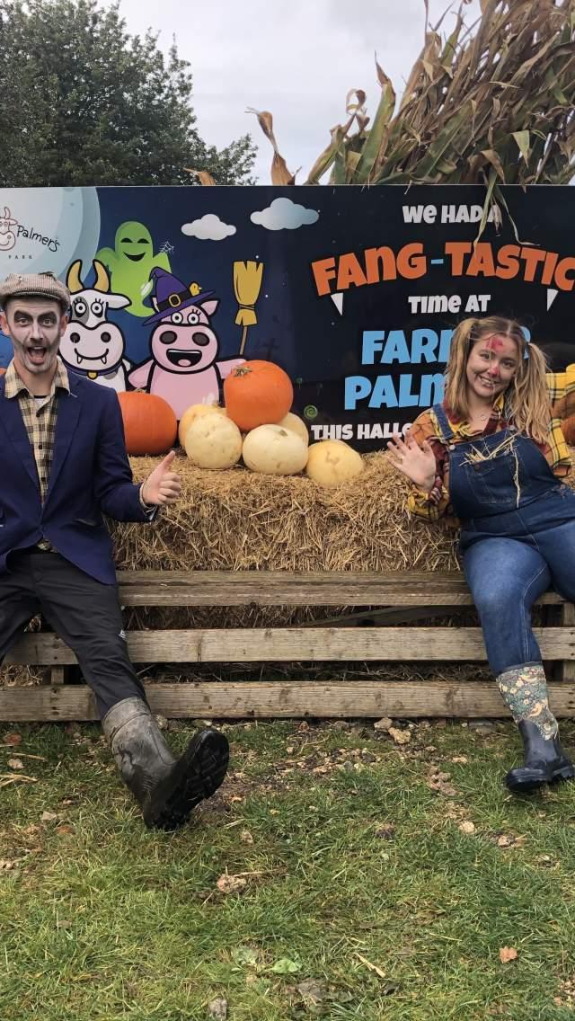 Halloween fun at Pumpkin Pick at Farmer Palmers Farm Park, Dorset