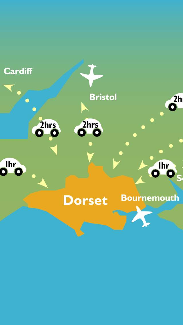Map of airports in southern England