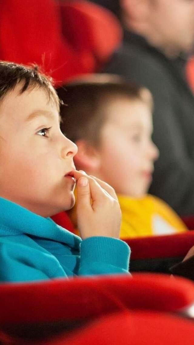 Enjoying a film at the cinema