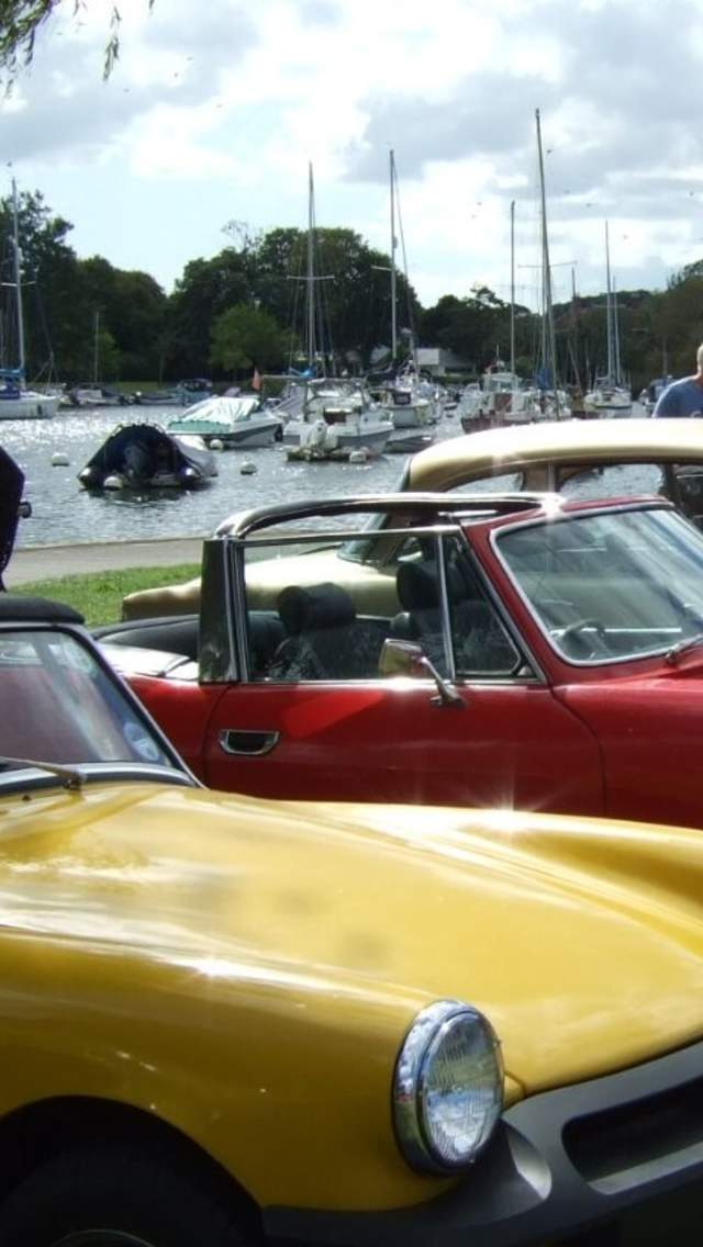 Classic Car Show at The Quomps, Christchurch in Dorset