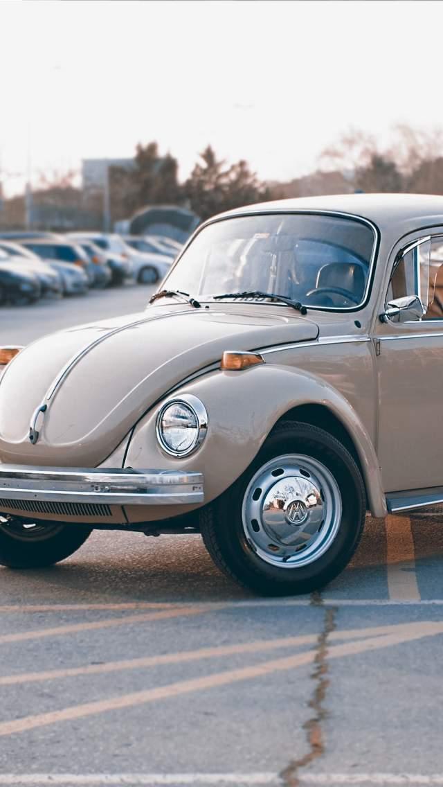 VW Beetle in car park