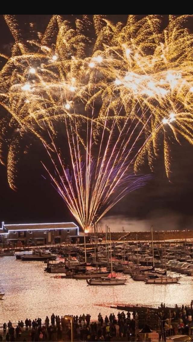 Fireworks over the Cobb