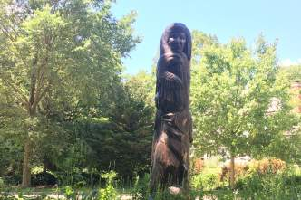 Effigy Tree Sculpture by Harry Whitehorse