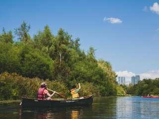 Canoe on Mercer Slough