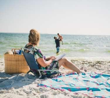 mellow mom on Beach