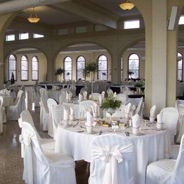 Wedding setup at the Schindler Banquet Center