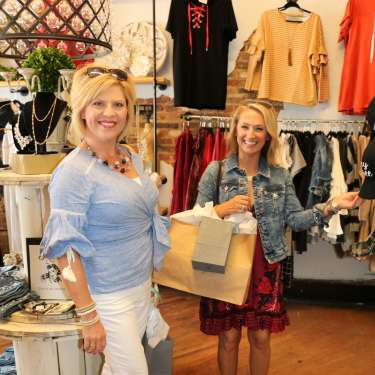 Ladies shopping in downtown Clarksville