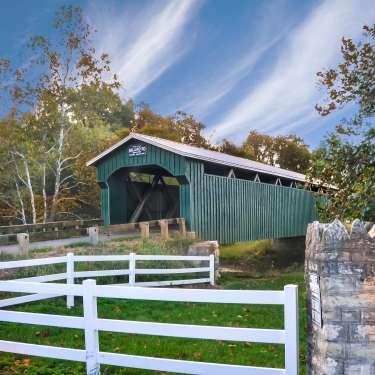 Ballard Road Covered Bridge in Jamestown, Ohio