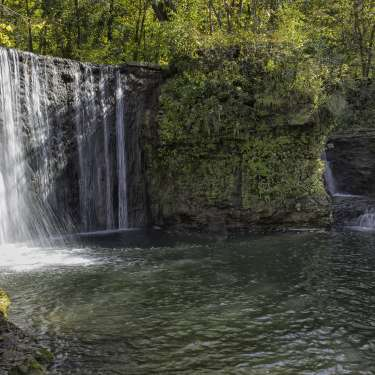 Waterfall at Peterson Park in Cedarville, OH