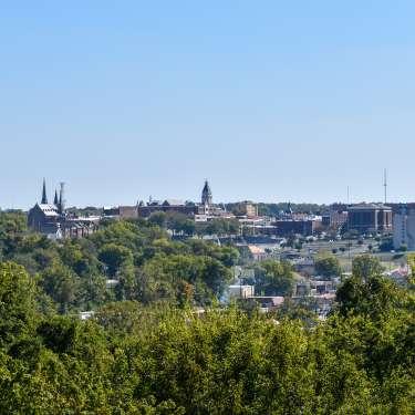 skyline view of Clarksville