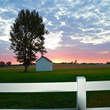 scenic rural sunset