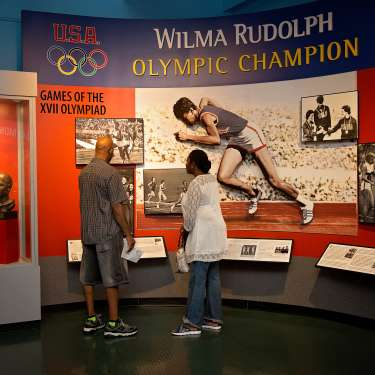 Wilma Rudolph exhibit at the Customs House Museum.
