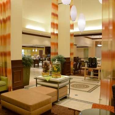 Lobby at the Hilton Garden Inn in Beavercreek, Ohio