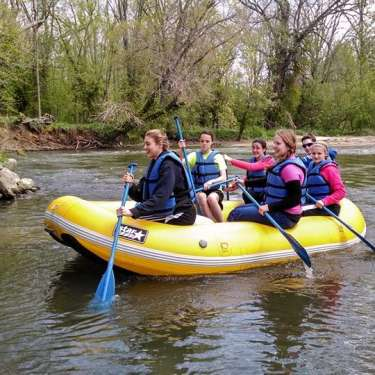 Rafting from Rivers Edge Outfitters on the Little Miami River in Spring Valley, Ohio