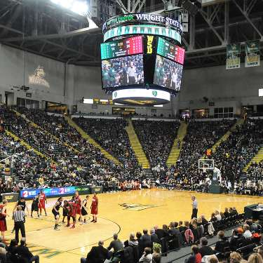 Wright State Basketball Game at the Nutter Center in Fairborn, Ohio