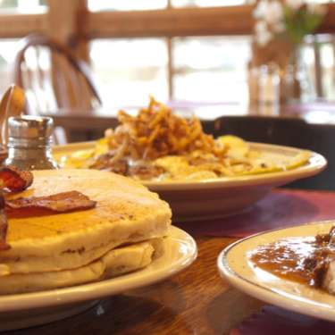 Bacon & Pancakes at Clifton Mill in Clifton, Ohio