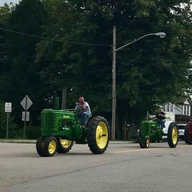 Tractor Parade in Spring Valley, Ohio
