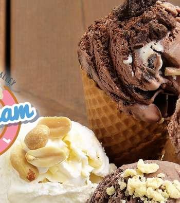 Ice Cream Cones and Cumberland Valley Ice Cram Trail Logo