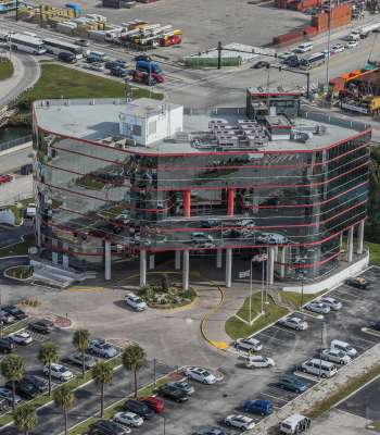 An aerial view of the Port Everglades Administration Building.