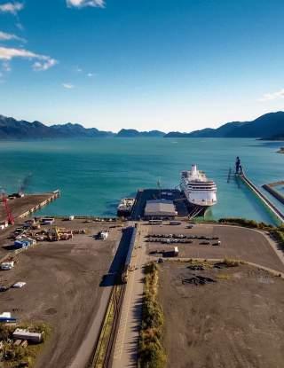 Cruise Ship Terminal Aerial