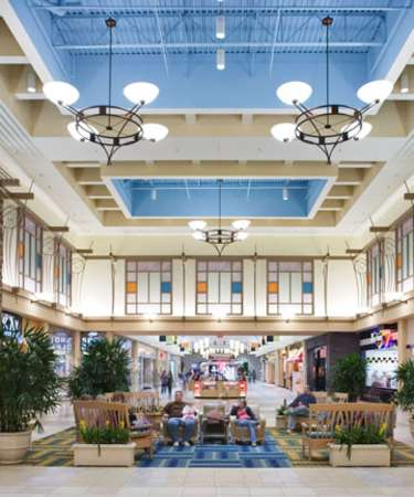 Harford Mall Interior court with seating
