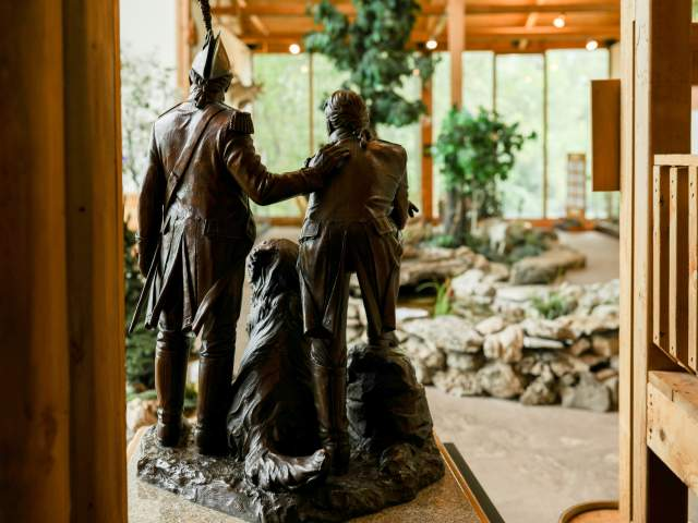 Lewis and Clark miniature Statue in Lewis and Clark Boathouse