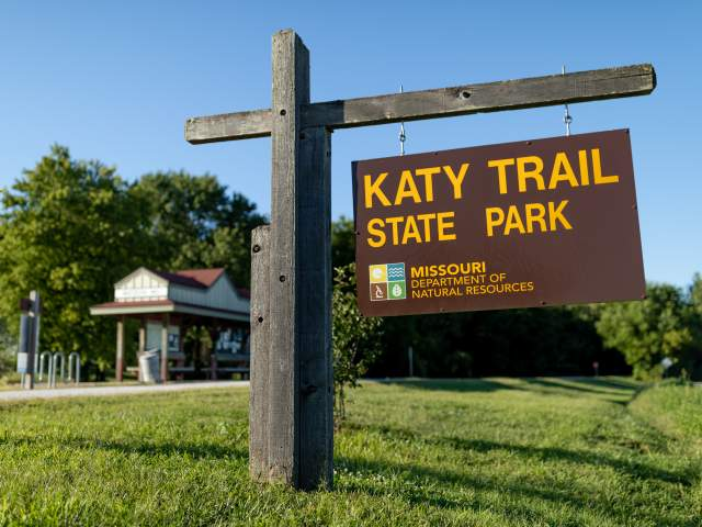 Katy Trail State Park Sign
