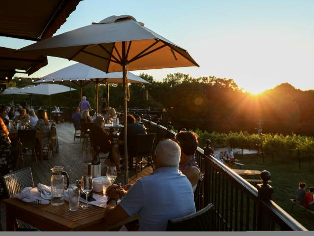 Wine Country, Chandler Hill Vineyards, Sunset