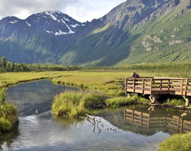 scenic views from Eagle River Nature Center