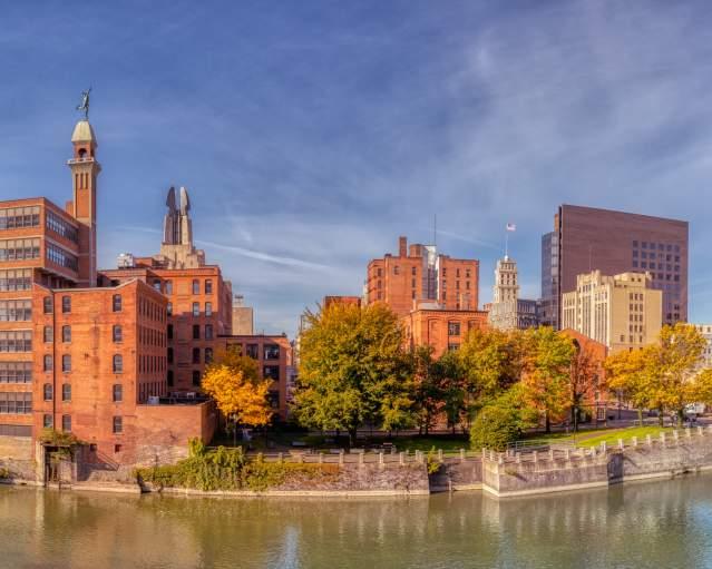 Rochester Cityscape by Dick Bennett