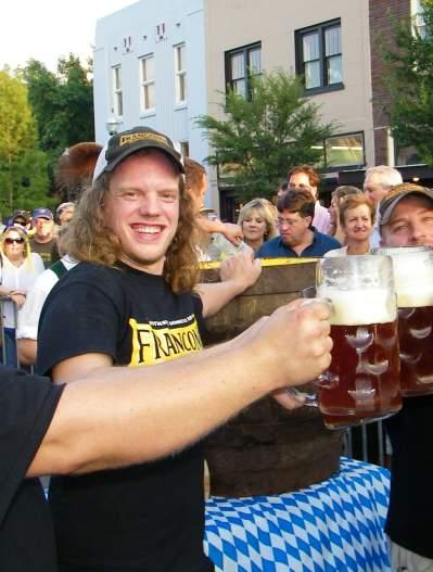 Franconia team toasts to Oktoberfest