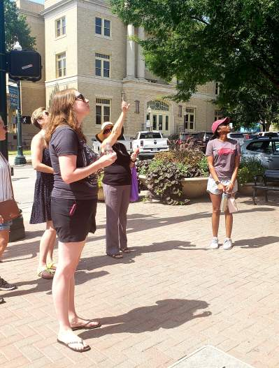 Walking tours of historic district