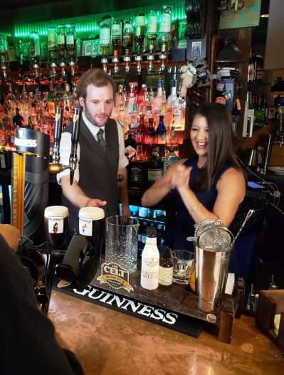 The Celt bar being filmed for YOLO TX
