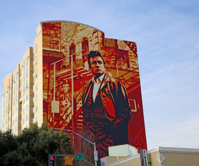 Cash Mural by Shepard Fairey