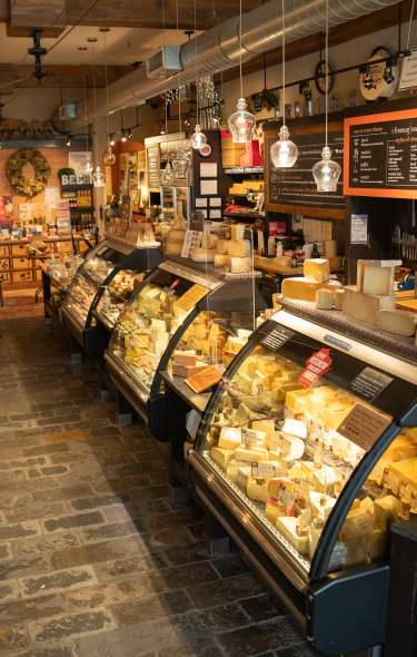 A view inside of Fromagination, a specialty cheese shop, in downtown Madison