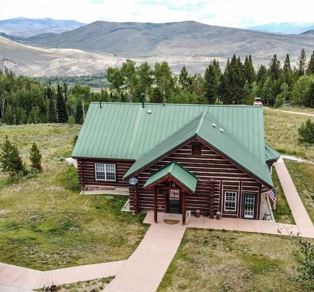 View from above of Antler Basin Ranch