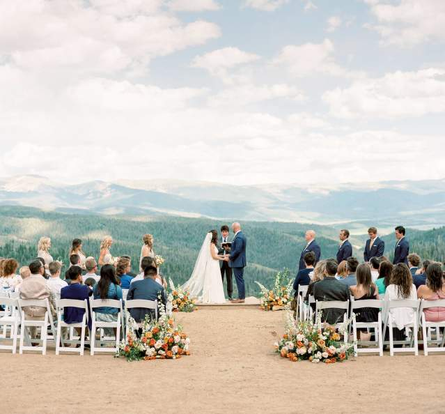 Wedding at Granby Ranch overlooking the Continental Divide