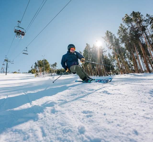 Man skiing at Granby Ranch