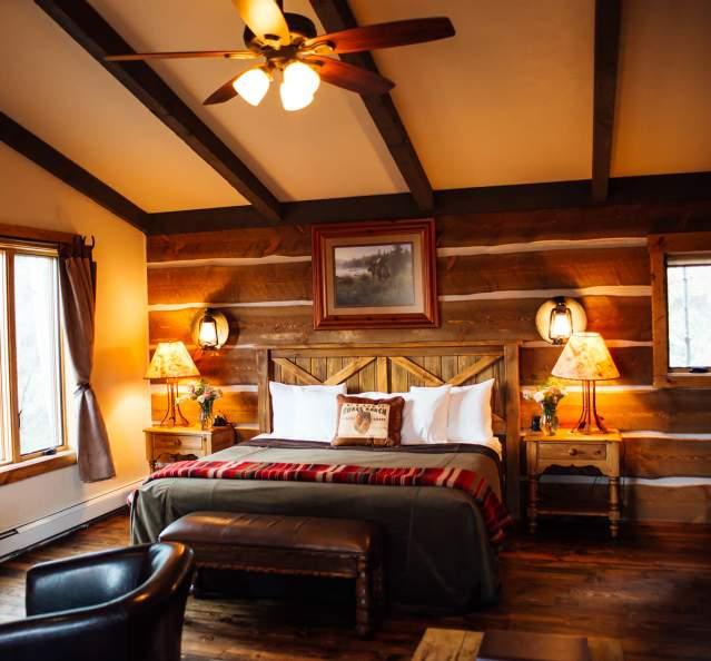 Interior of room at C Lazy U Ranch