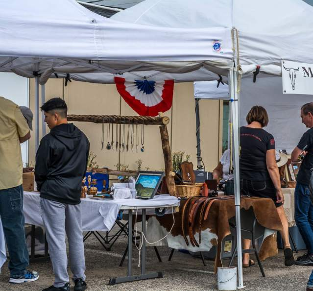 Booths at the Granby Farmers Market