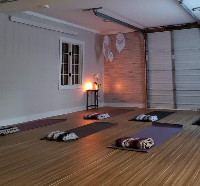 Yoga studio in the Granby Yoga Barn