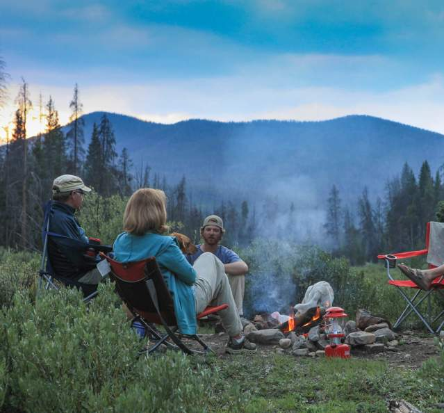 Group camping at Willow Creek Campground